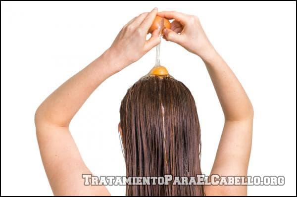 Mascarilla de huevo para el cabello maltratado