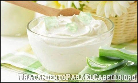 Mascarilla de yogurt, romero y sábila para el cabello graso