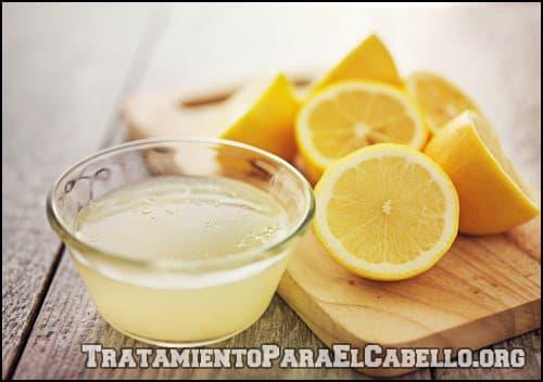 Cabello graso con limón