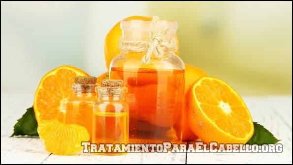 Aceite de naranja para la nutrición del pelo