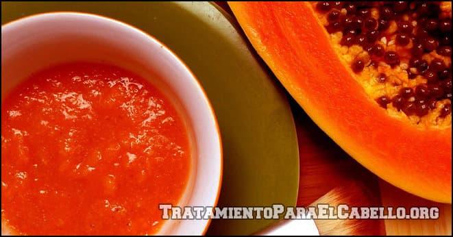 Cómo preparar una mascarilla de Papaya para el cabello