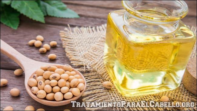 condiciones habituales para las que se usa aceite de soya en el pelo