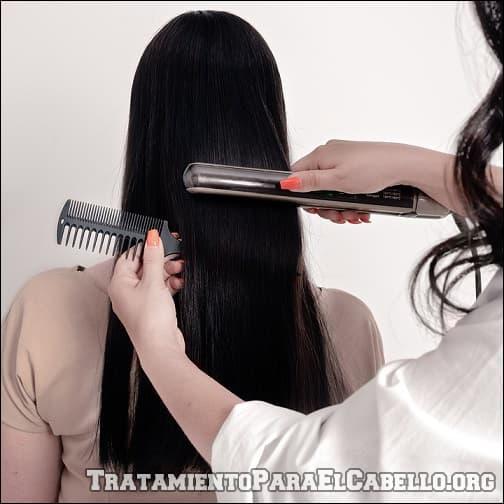 alisar el pelo con bicarbonato