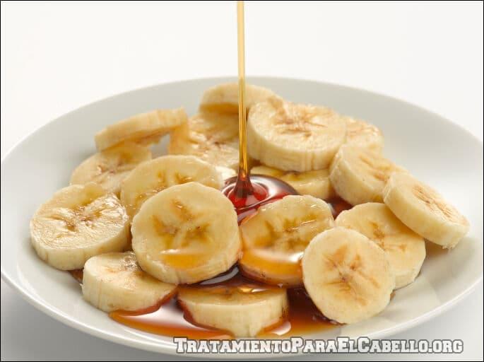 mascarilla de banano y miel