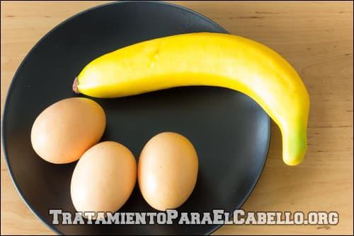 mascarilla de banano y huevo