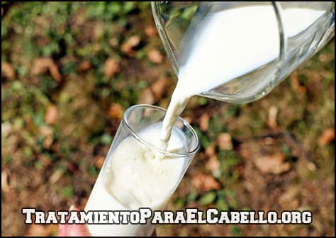 beneficios de la leche para el cabello