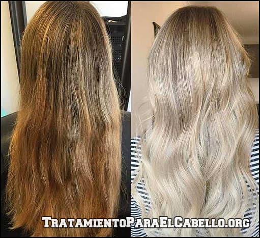 Agua oxigenada cabello antes y despues